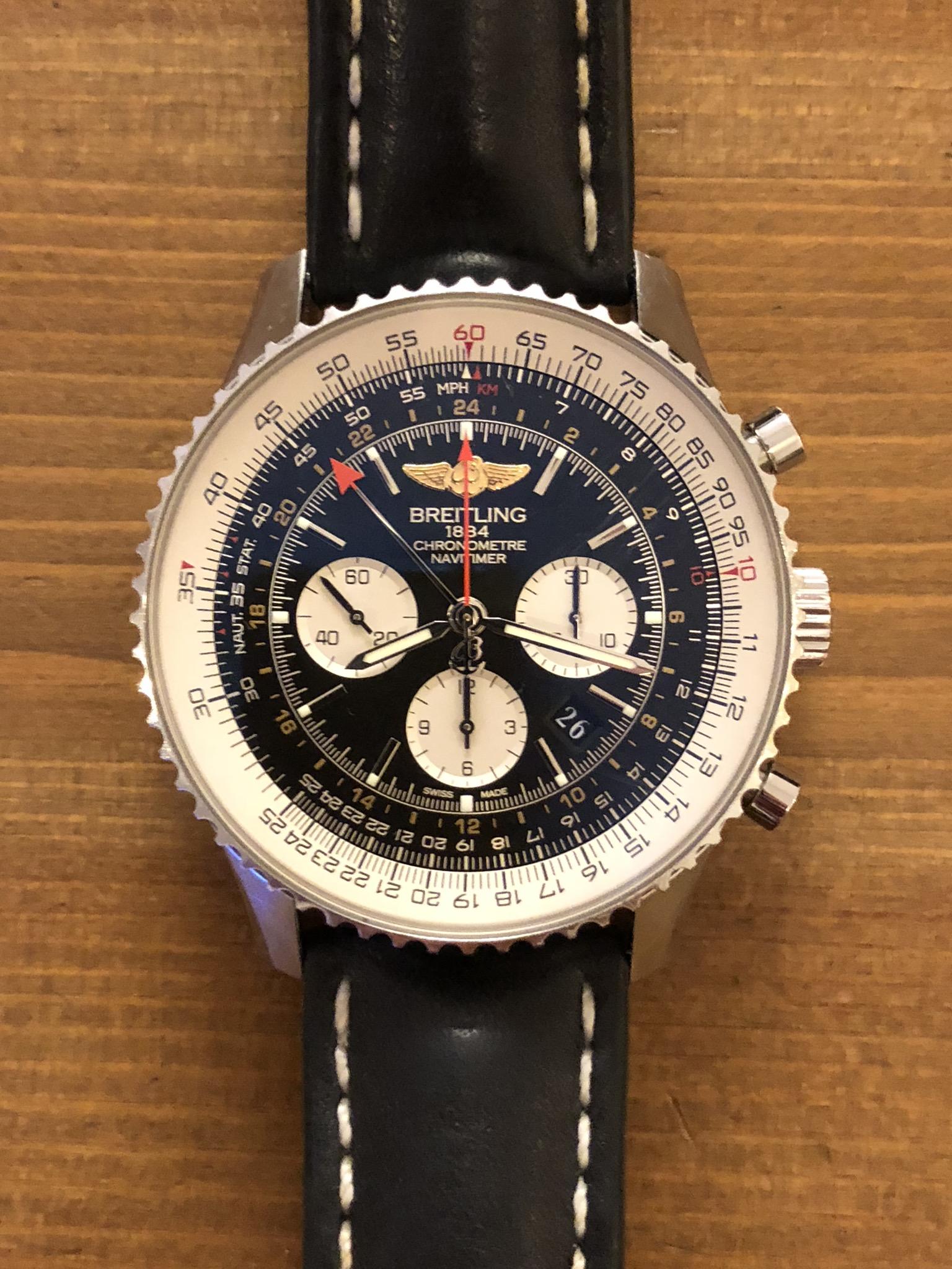 Luxusní použité hodinky. Breitling Navitimer GMT 48mm - Luxusní ... 78d144977ea